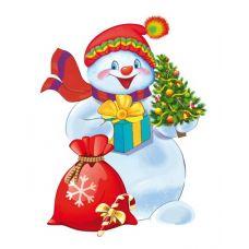 Плакат детский Снеговик