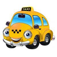 Плакат детский Такси