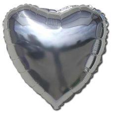 Шар воздушный фольгированный: Сердце серебряное - Издательство Gemar Balloons - ISBN ШСS