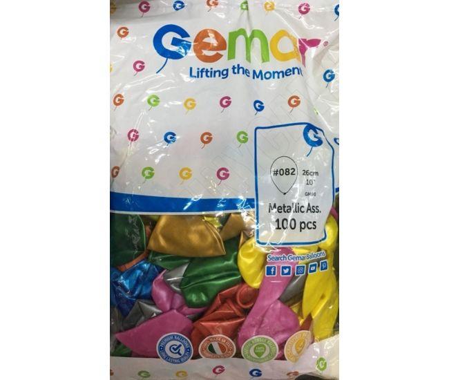 """Воздушные шары GEMAR Gm90 10""""/26 см металлик - Издательство Gemar Balloons - 1350003"""