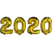 Шар фольгированный золото. Цифры 2020