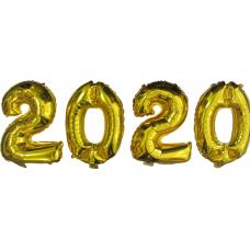 Шар фольгированный золото. Цифры 2020 - Издательство Gemar Balloons - ISBN Ш2020G