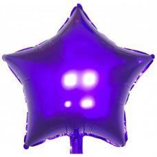Шар фольгированный звезда фиолетовый - Издательство Gemar Balloons - ШЗV