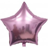 Шар фольгированный звезда розовый