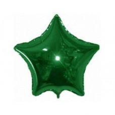 Шар фольгированный звезда зеленый - Издательство Gemar Balloons - ШЗG