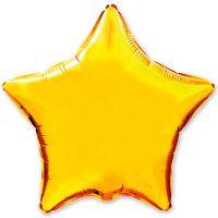 Куля фольгована зірка золото