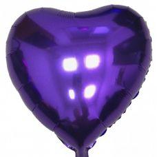 Шар воздушный фольгированный Сердце фиолетовое - Издательство Gemar Balloons - ШСV