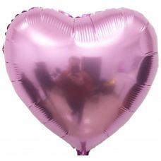 Шар воздушный фольгированный Сердце розовое - Издательство Gemar Balloons - ШСР
