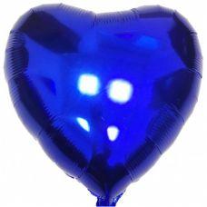 Шар воздушный фольгированный Сердце синее - Издательство Gemar Balloons - ШСВ