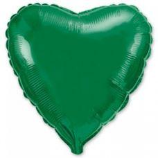 Шар воздушный фольгированный Сердце зеленое - Издательство Gemar Balloons - ШСG