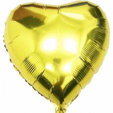 Шар воздушный фольгированный Сердце золотое - Издательство Gemar Balloons - ШСG