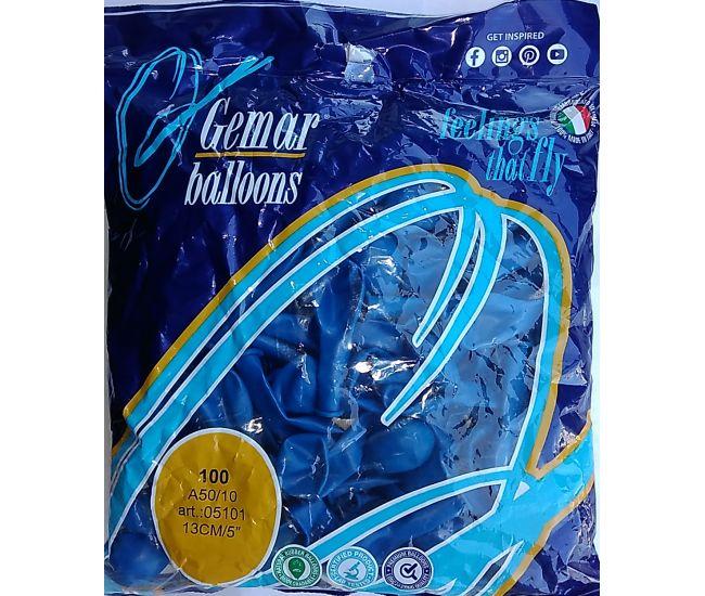 """Воздушные шары GEMAR А50 5""""/13 см пастель (синий)"""