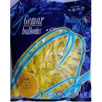 """Воздушные шары GEMAR А50 5""""/13 см пастель (желтый)"""