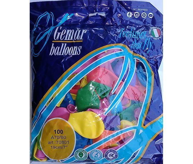 """Воздушные шары GEMAR А70 7""""/19 см пастель - Издательство Gemar Balloons - ISBN 1350010"""