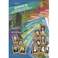 Комплект плакатов Пiдручники i посiбники Биология для оформления кабинета