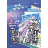 Комплект плакатов Пiдручники i посiбники Химия  для оформления кабинета