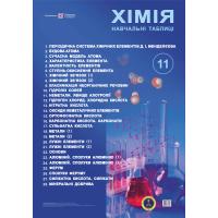 Комплект плакатов Пiдручники i посiбники Учебные таблицы химия 11 класс