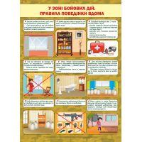 Плакат школьный Пiдручники i посiбники В зоне боевых действий