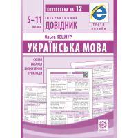 Интерактивный справочник Весна Украинский язык 5-11 классы